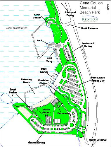 Map - Gene Coulon Memorial Park